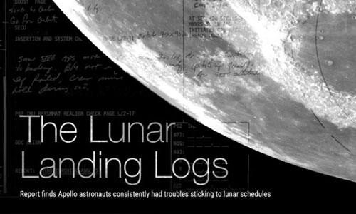 graphic of the moon with diagram overlays